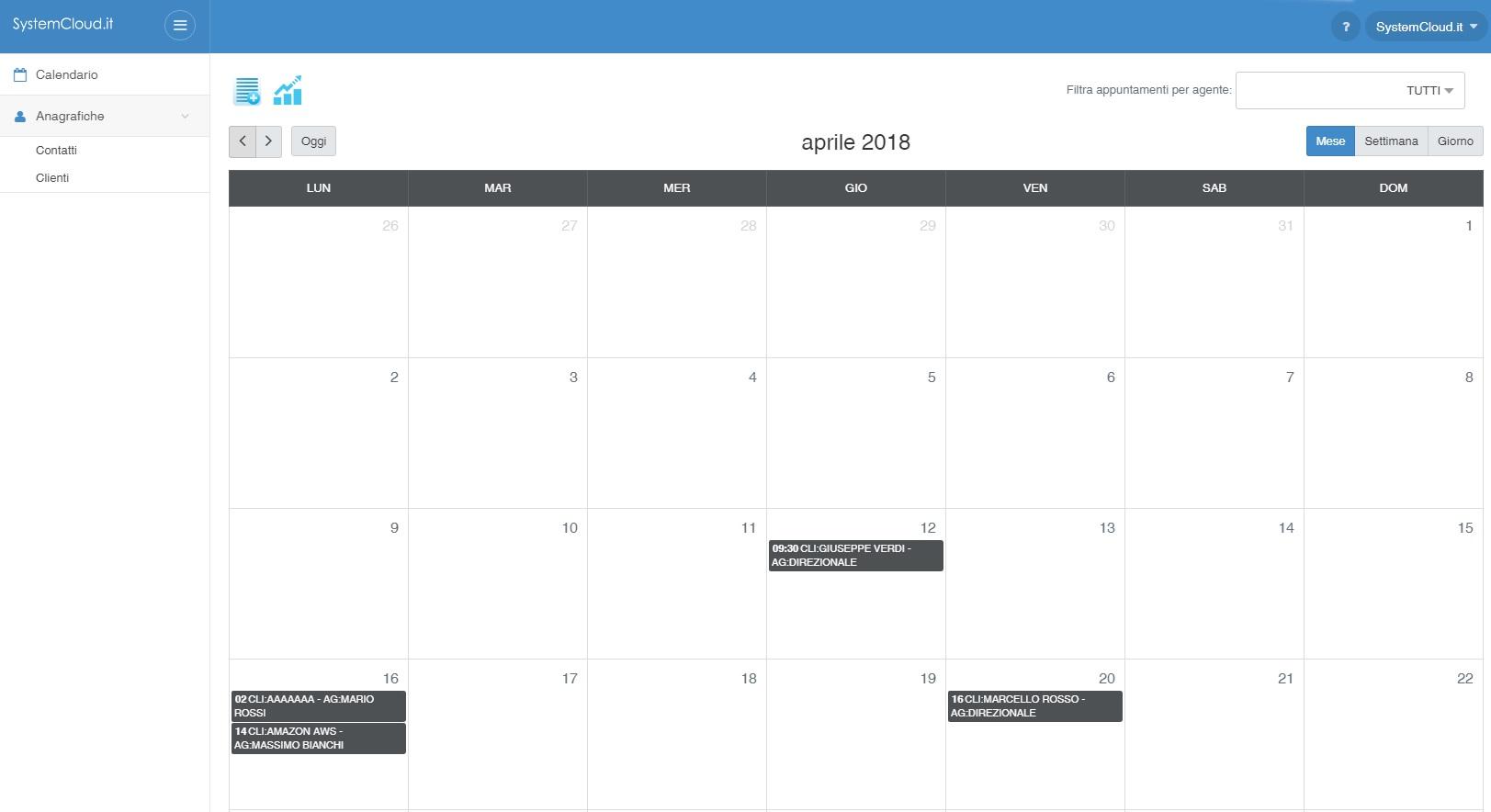 systemcloud profilo calendario